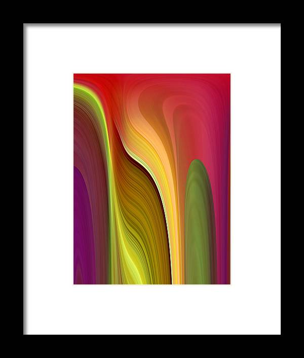 Abstract Framed Print featuring the digital art Oomph by Ruth Palmer