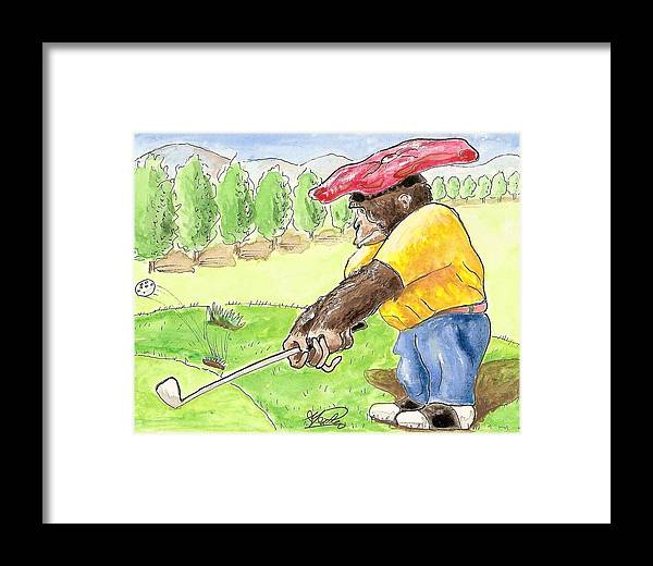 Golf Framed Print featuring the painting Oops by George I Perez