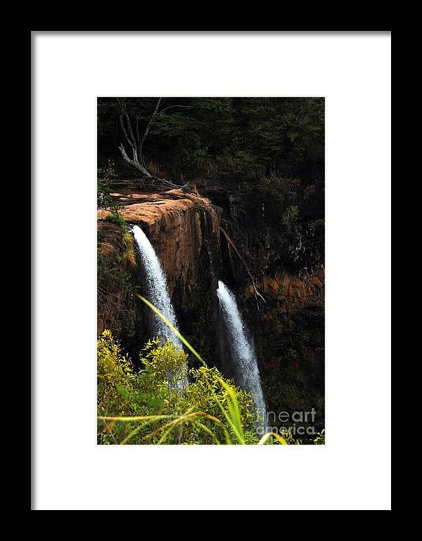 Waterfalls Framed Print featuring the photograph Opaekaa Falls by Debbie Ronning