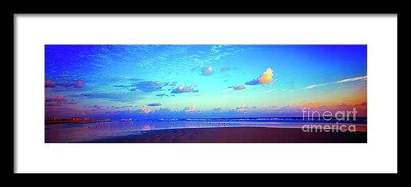 Open Framed Print featuring the photograph Open Beach Ponce Inlet Atlantic Ocean by Tom Jelen