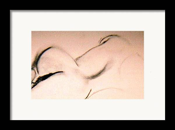 Figurative Framed Print featuring the drawing Open Curves by JuneFelicia Bennett