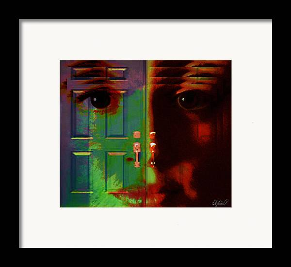 Self Framed Print featuring the digital art Open Discovery by Sylvia Pekarek