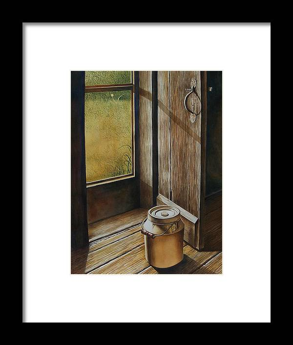 Still Life Or Landscape Framed Print featuring the painting Open Door by Arnold Hurley