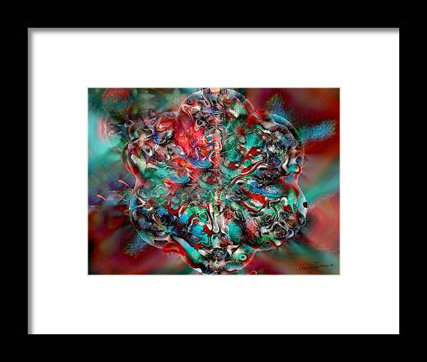 Heart Passion Life Framed Print featuring the digital art Open Heart by Veronica Jackson