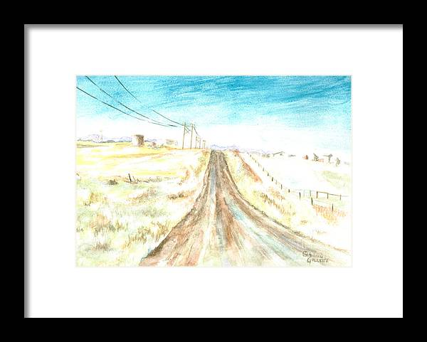 Road Framed Print featuring the painting Country Road by Andrew Gillette