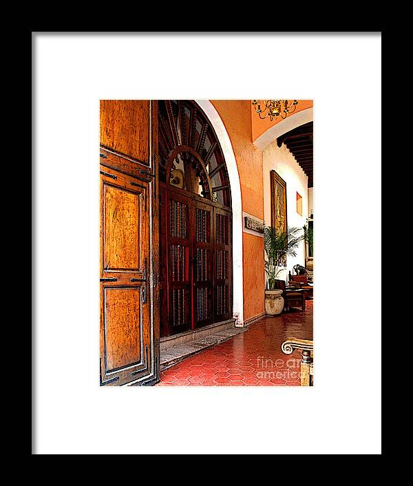 Darian Day Framed Print featuring the photograph Open To The Courtyard by Mexicolors Art Photography