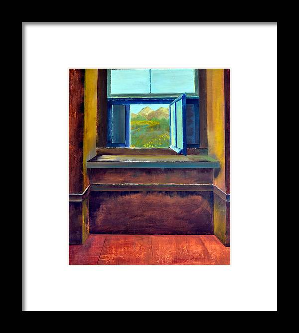 Trompe L'oeil Framed Print featuring the painting Open Window by Michelle Calkins