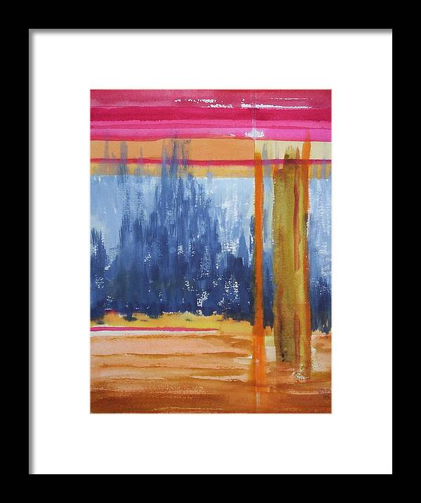 Landscape Framed Print featuring the painting Opening by Suzanne Udell Levinger
