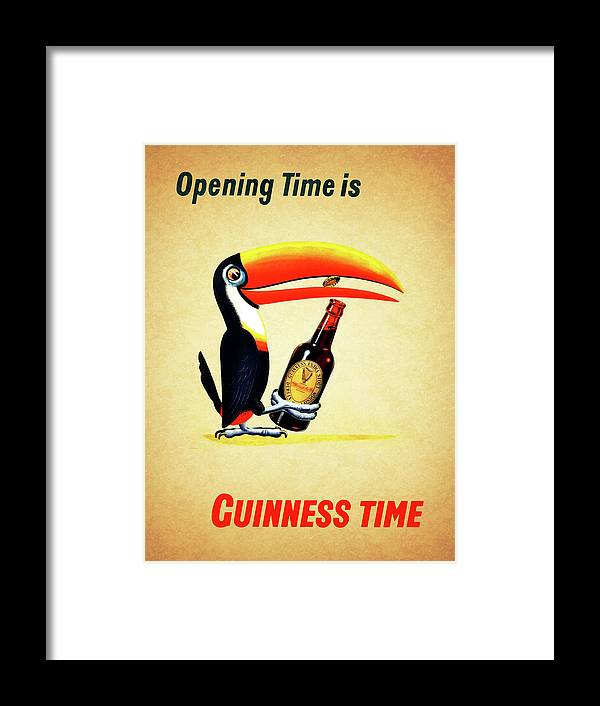 Opening Time Is Guinness Time Framed Print by Mark Rogan