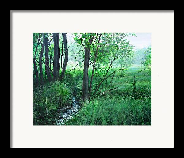 Landscape Framed Print featuring the painting Opening by William Brody