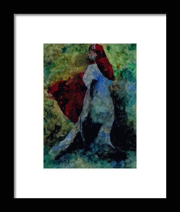 Woman Framed Print featuring the painting Ophelia by Erika Brown