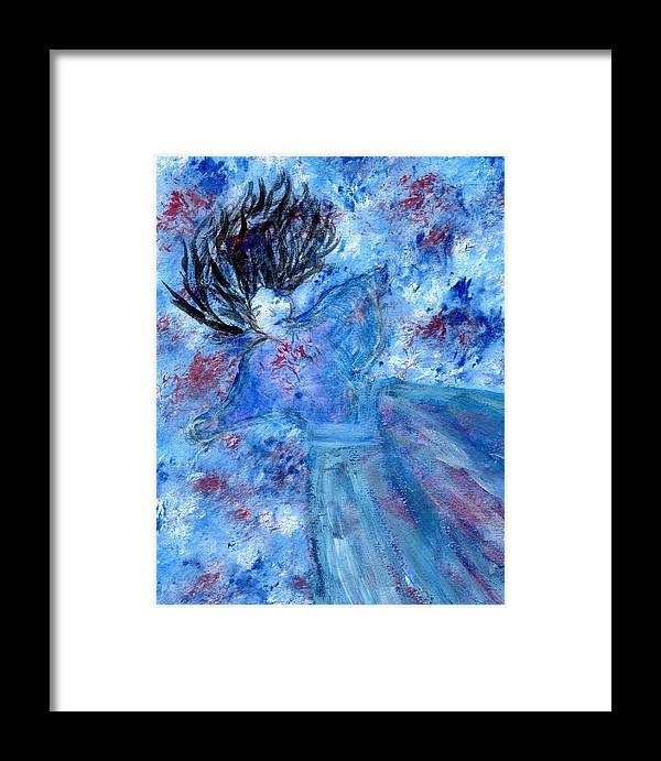 Ophelia Framed Print featuring the painting Ophelia by Linda Bender