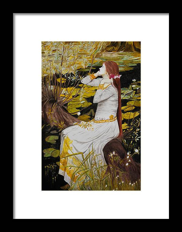 Women Framed Print featuring the painting Ophelia by Sushobha Jenner
