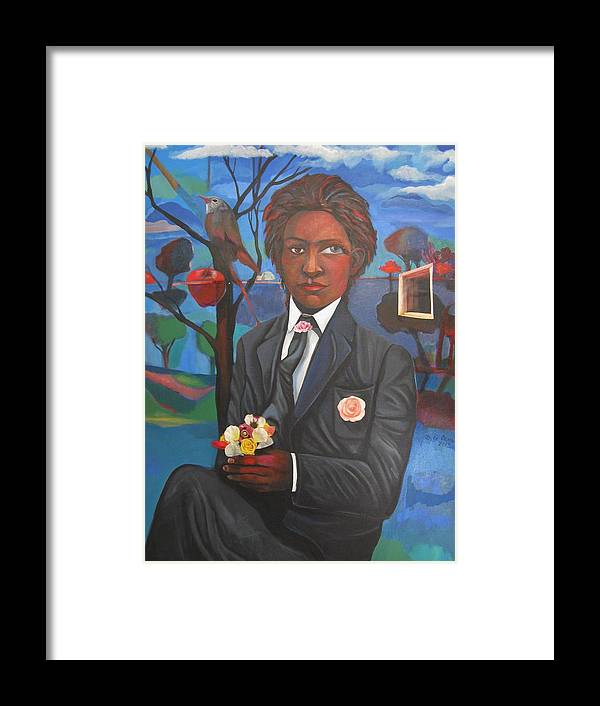 Person Framed Print featuring the painting Out by Joyce Owens
