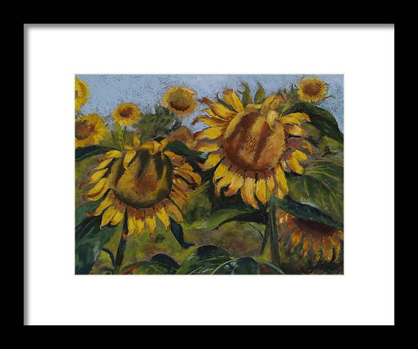 Flowers Framed Print featuring the painting Opposites Attract by Sarah Bernhardt