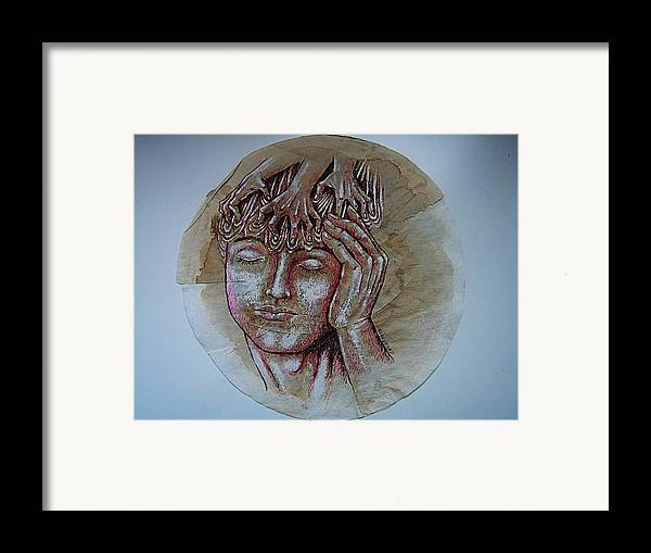 Oppression Framed Print featuring the digital art Oppression by Paulo Zerbato