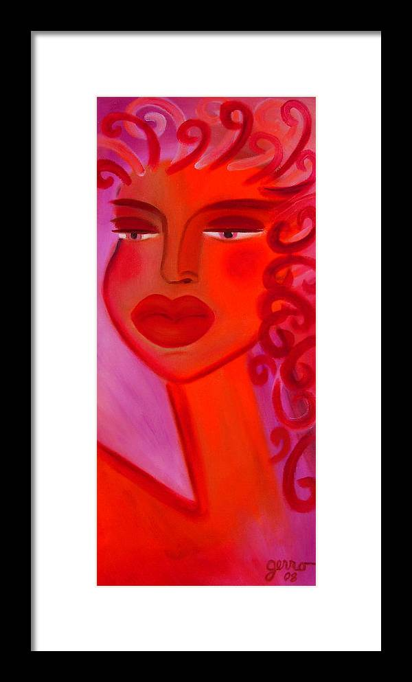 Women Artwork Framed Print featuring the painting Oprah by Helen Gerro