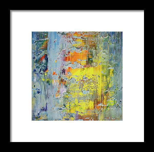 Derek Kaplan Art Framed Print featuring the painting Opt.66.16 A New Day by Derek Kaplan