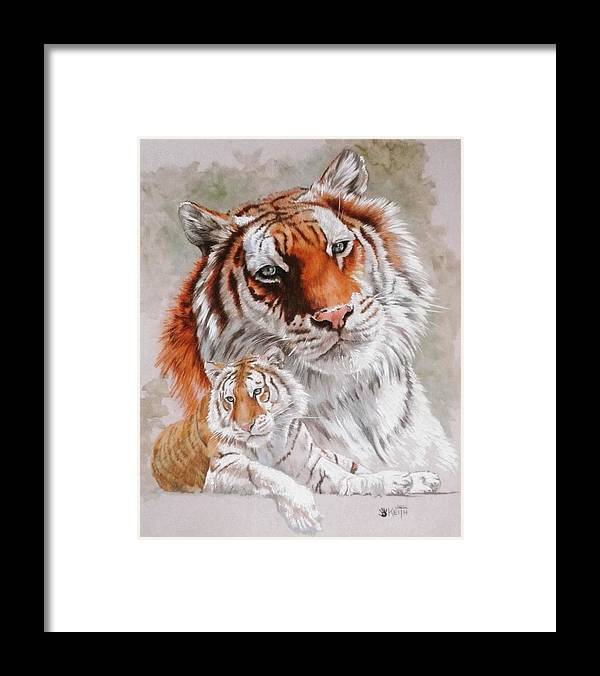 Wildcat Framed Print featuring the mixed media Opulent by Barbara Keith