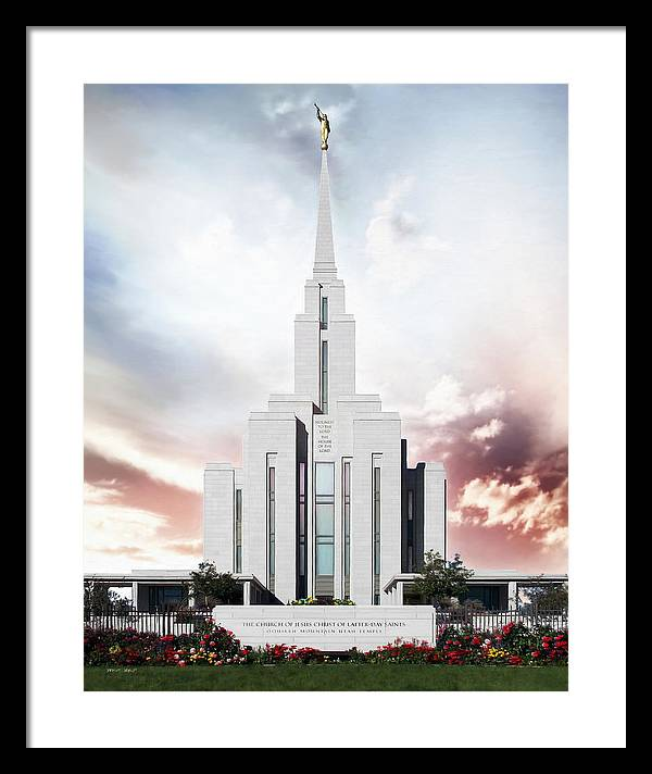 Oquirrh Framed Print featuring the painting Oquirrh Mountain - A Place of Safety by Brent Borup