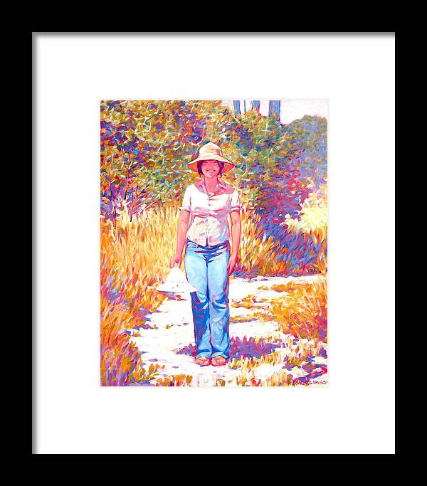 Portrait Framed Print featuring the painting Or This One by Kevin Lawrence Leveque