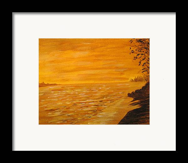 Ocean Framed Print featuring the painting Orange Beach by Ian MacDonald