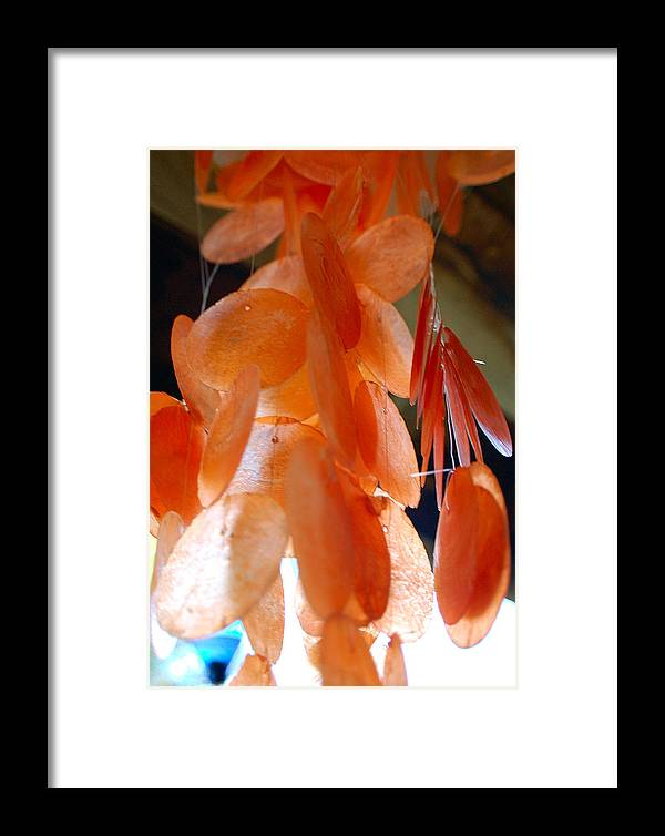 Photography Framed Print featuring the photograph Orange Chimes by Heather S Huston