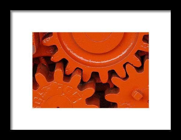 Framed Print featuring the photograph Orange Gear 2 by Michael Raiman