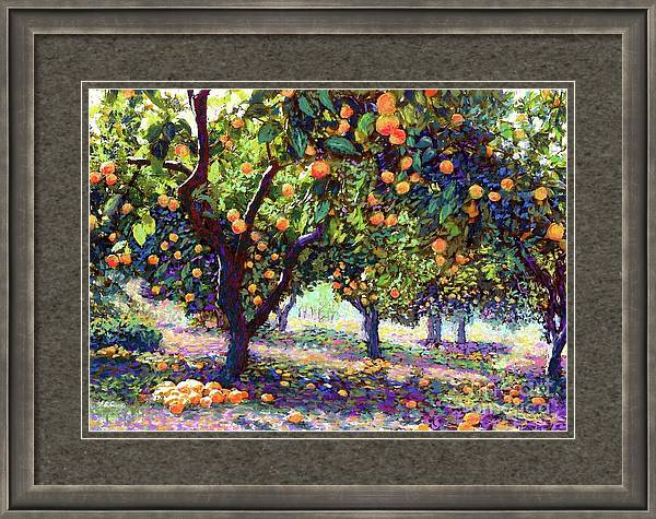 Orange Grove of Citrus Fruit Trees by Jane Small