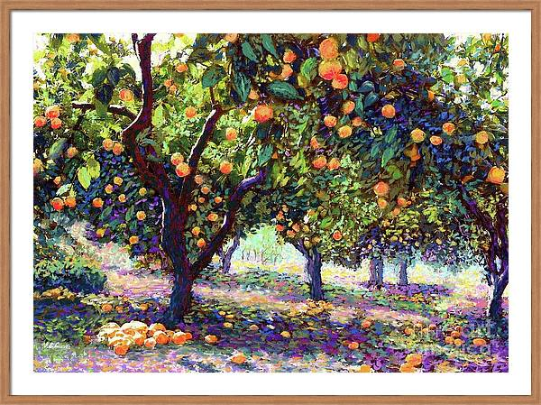 Orange Grove of Citrus Fruit Trees by Jane Small