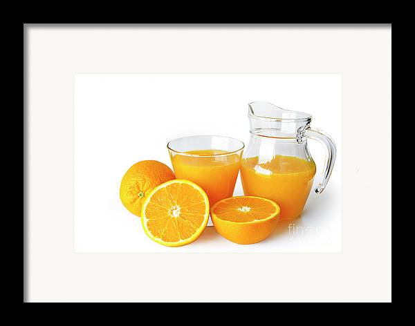 Agriculture Framed Print featuring the photograph Orange Juice by Carlos Caetano