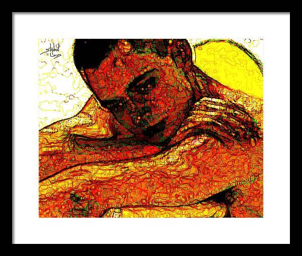 Man Framed Print featuring the digital art Orange Man by Stephen Lucas
