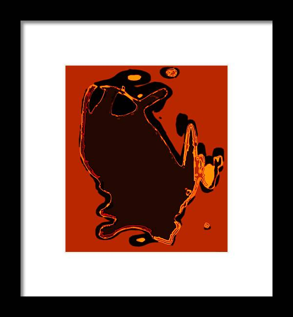 Aupre.com Genuine Unique Arthouse Digital Art From The Hari Rama Framed Print featuring the painting Orange by The Hari Rama