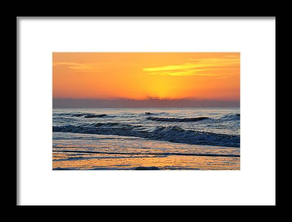 Water Framed Print featuring the photograph Orange Morn by Kay Lovingood