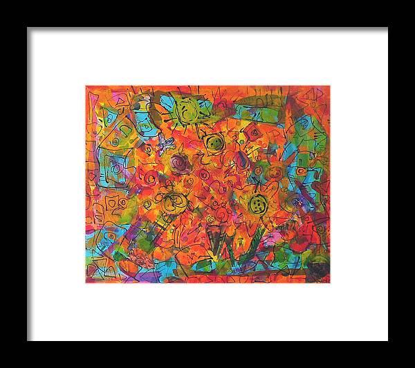 Orange Framed Print featuring the painting Orange Orange by Joyce Goldin