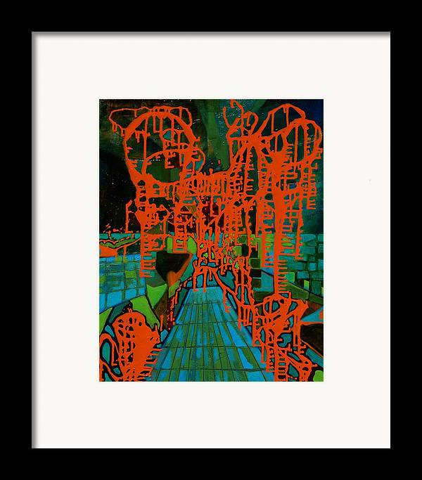Lanscape Framed Print featuring the print Orange Palas by Meltem Quinlan