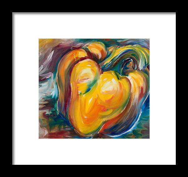 Orange Framed Print featuring the painting Orange Pepper by Jennifer Lycke