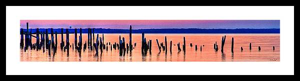 Hdr Framed Print featuring the photograph Orange Pilings by E R Smith