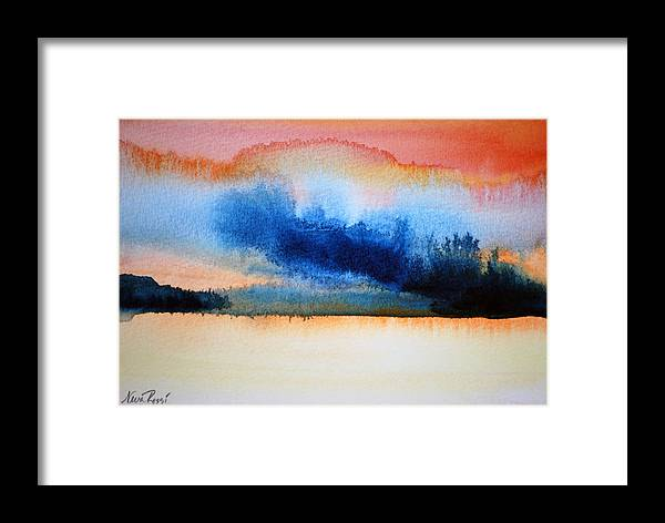 Landscape Framed Print featuring the painting Orange Solitude by Neva Rossi