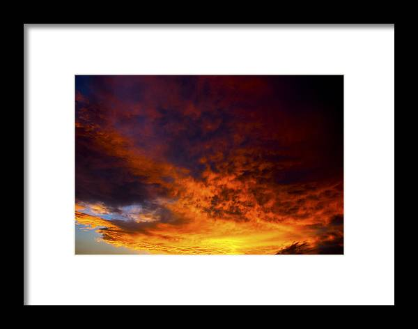 Nature Framed Print featuring the photograph Orange Sunset 1.1 by Patrick O'Brien