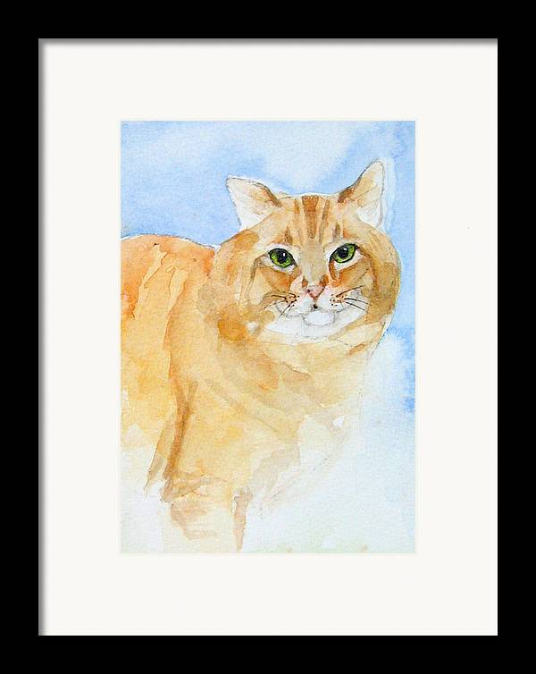 Feline Framed Print featuring the painting Orange Taffy by Gina Hall