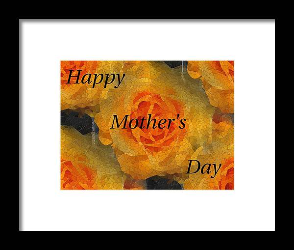 Mother's Day Framed Print featuring the digital art Orange You Lovely Mothers Day by Tim Allen