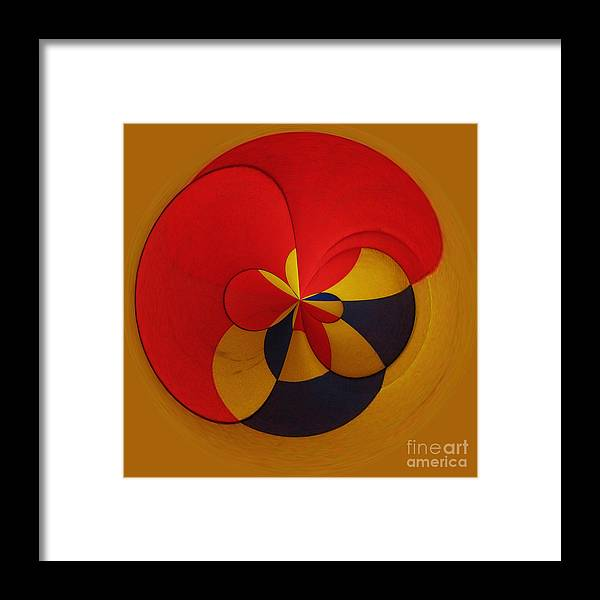 Abstract Framed Print featuring the digital art Orb 9 by Elena Nosyreva