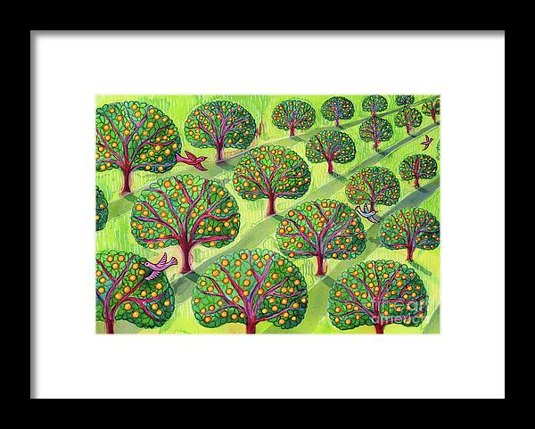 Orchard Framed Print featuring the painting Orchard by Jane Tattersfield