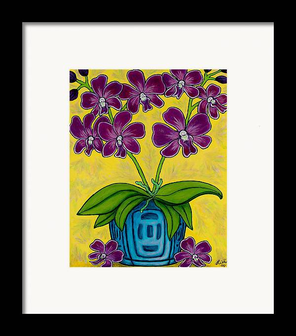 Orchids Framed Print featuring the painting Orchid Delight by Lisa Lorenz