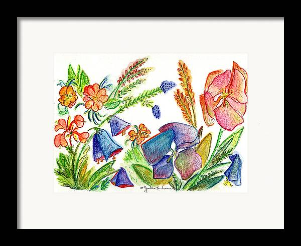 Flowers Framed Print featuring the painting Orchid No. 13 by Julie Richman