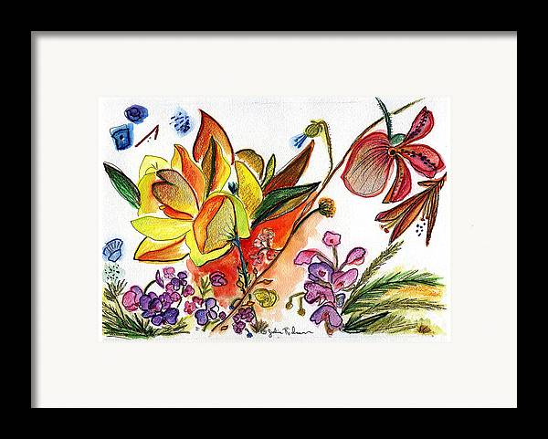 Flowers Framed Print featuring the painting Orchid No. 30 by Julie Richman