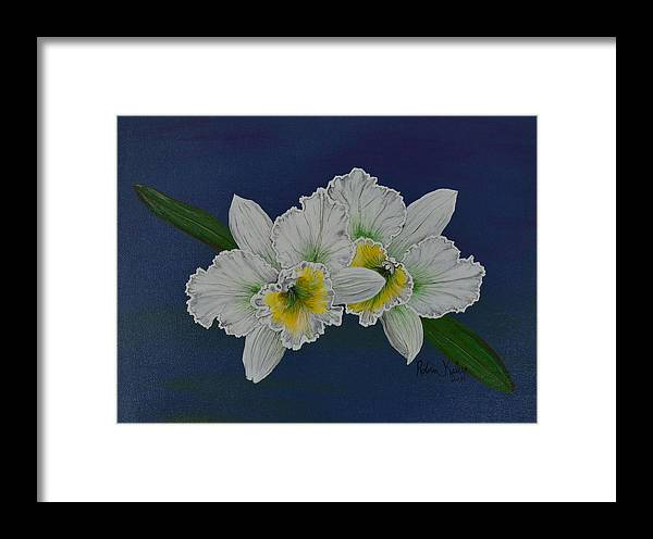 Orchid Framed Print featuring the painting Orchid by Roberta Landers