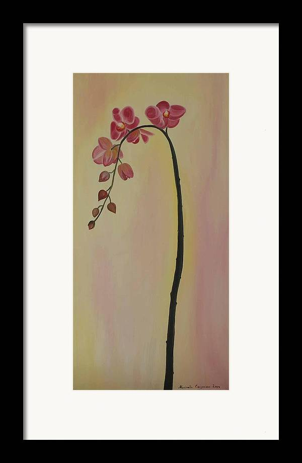 Marinella Owens Framed Print featuring the painting Orchide In Pink by Marinella Owens