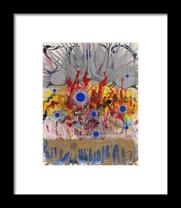 Chaos Framed Print featuring the painting Order In Chaos by Nathaniel Hoffman